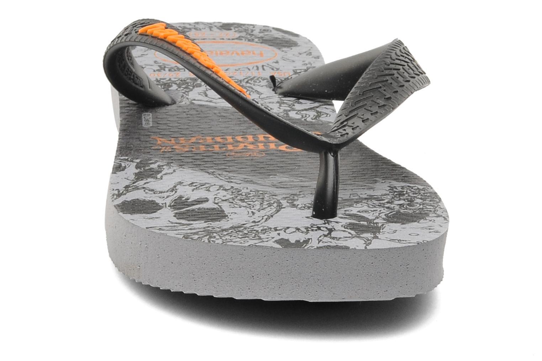 Tongs Havaianas Kids Piratas Noir vue portées chaussures