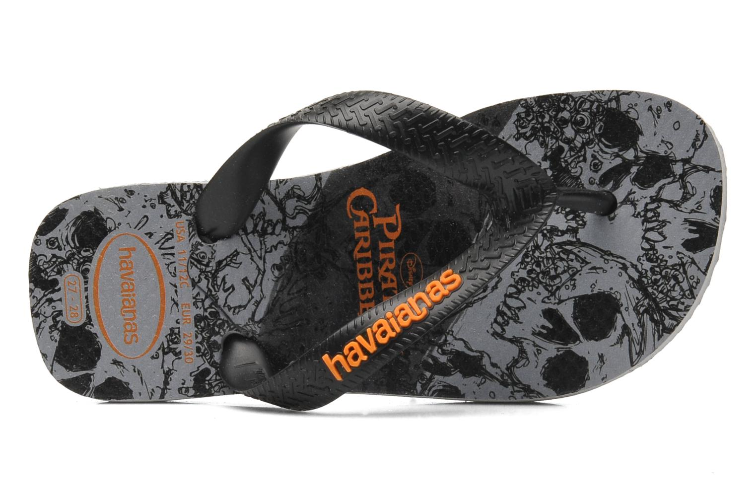 Flip flops Havaianas Kids Piratas Black view from the left