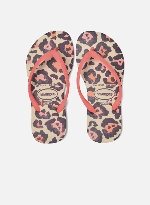 Tongs Havaianas Kids Slim Animals Beige vue 3/4