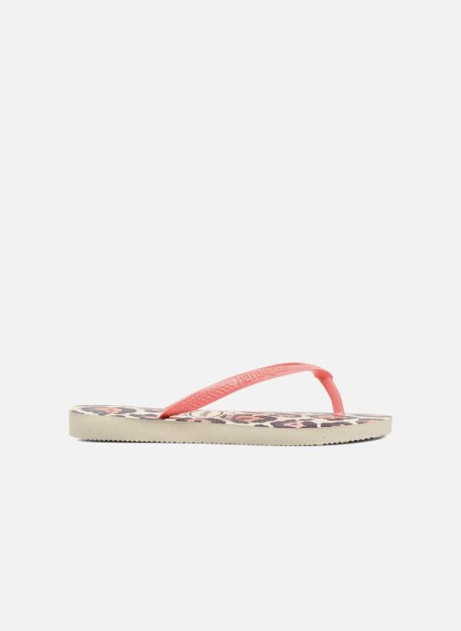 Tongs Havaianas Kids Slim Animals Beige vue derrière