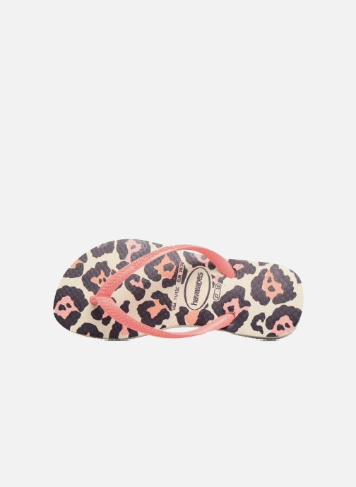 Tongs Havaianas Kids Slim Animals Beige vue gauche