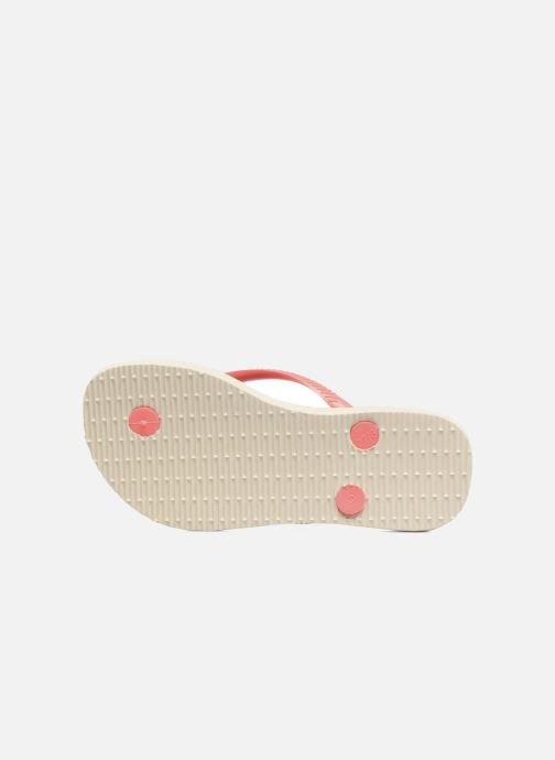 Tongs Havaianas Kids Slim Animals Beige vue haut
