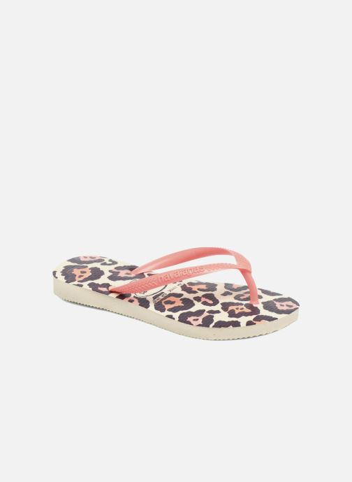Tongs Havaianas Kids Slim Animals Beige vue détail/paire