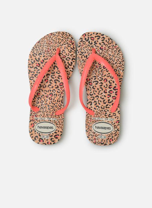 Tongs Havaianas Kids Slim Animals Marron vue portées chaussures