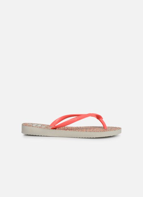 Slippers Havaianas Kids Slim Animals Oranje achterkant