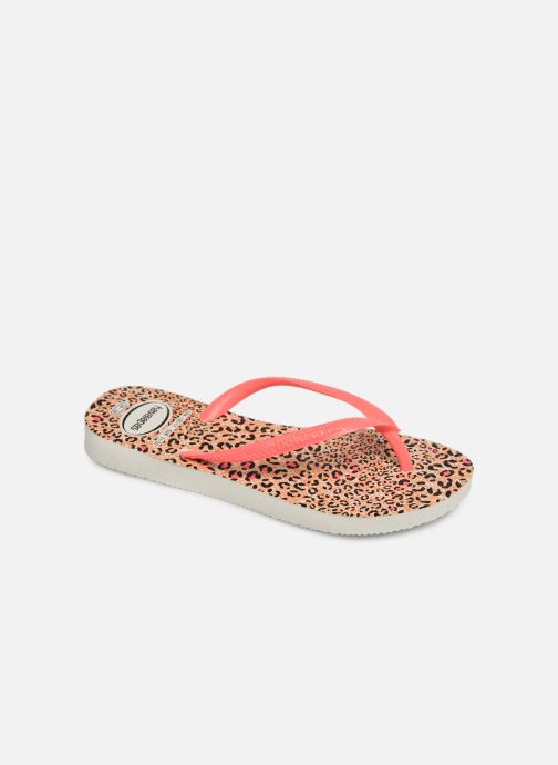 Chanclas Havaianas Kids Slim Animals Naranja vista de detalle / par