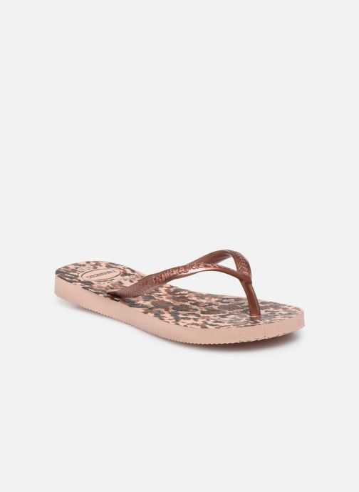 Slippers Havaianas Kids Slim Animals Roze detail