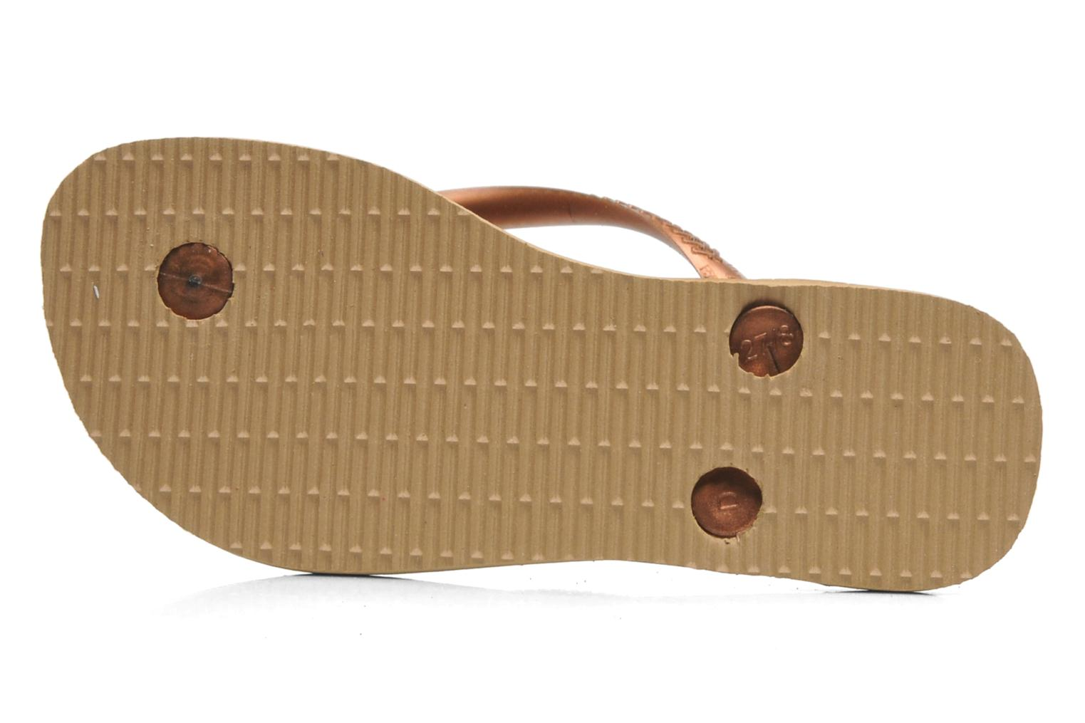Flip flops Havaianas Kids Slim Animals Bronze and Gold view from the left