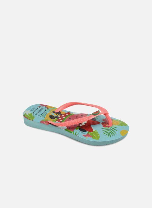 2dd46d79d7d Havaianas Kids Slim Disney Cool (Bleu) - Tongs chez Sarenza (318012)