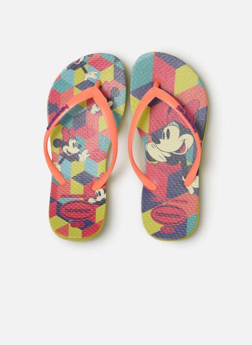 Tongs Havaianas Kids Slim Disney Cool Orange vue portées chaussures