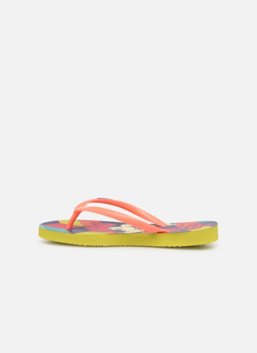 Chanclas Havaianas Kids Slim Disney Cool Naranja vista de frente