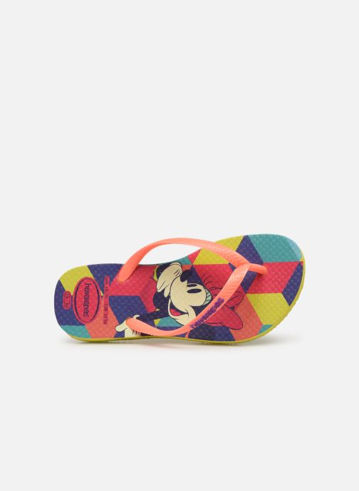 Chanclas Havaianas Kids Slim Disney Cool Naranja vista lateral izquierda
