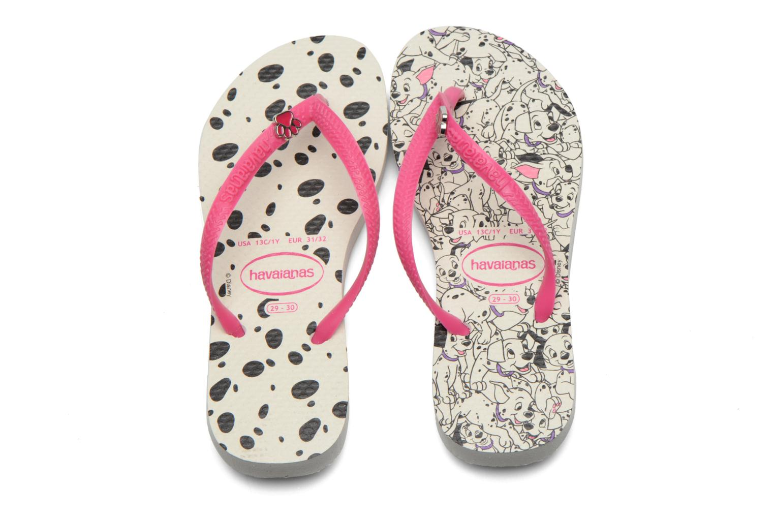 Tongs Havaianas Kids Slim Disney Cool Multicolore vue portées chaussures