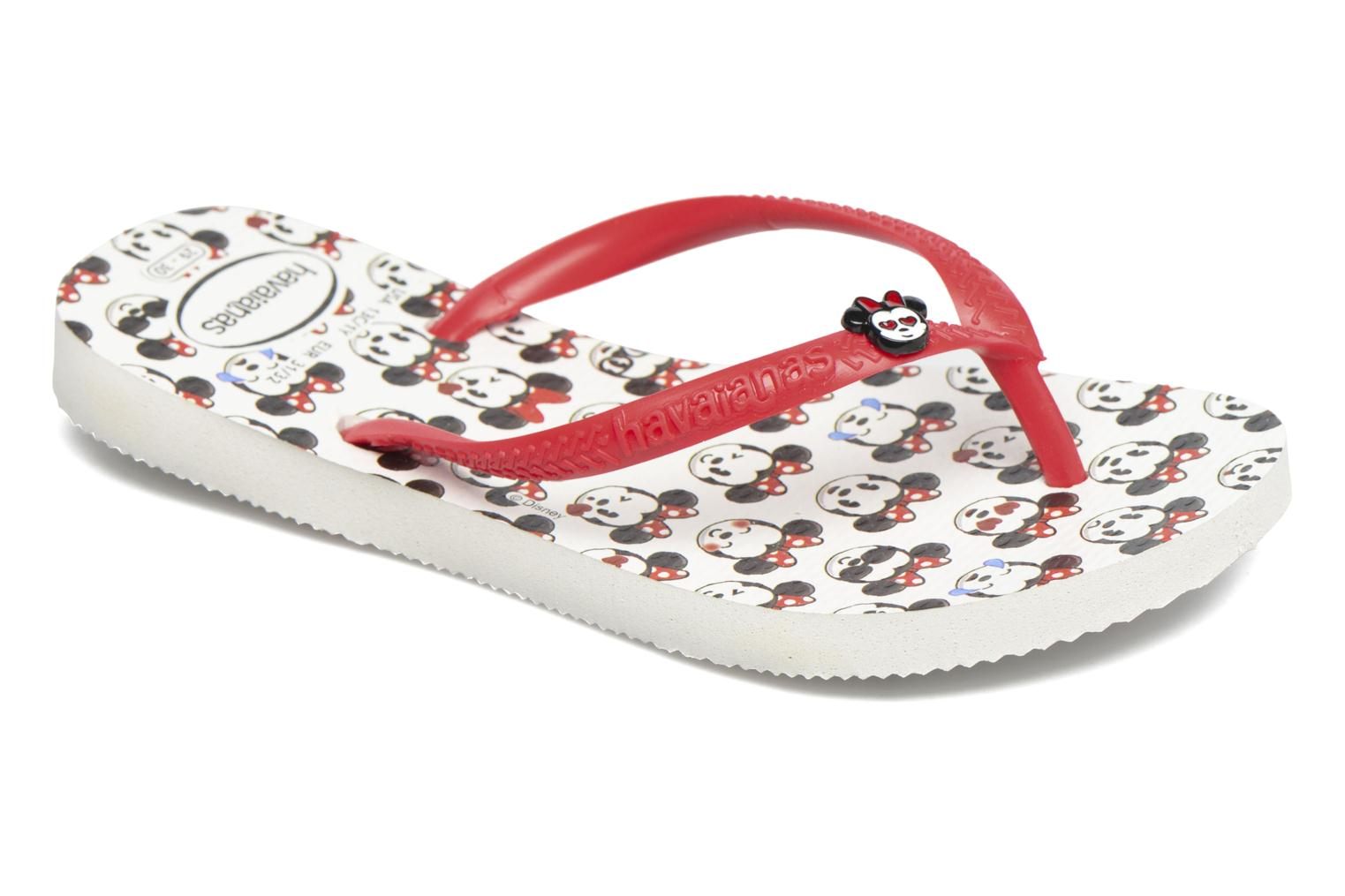 Flip flops Havaianas Kids Slim Disney Cool White detailed view/ Pair view