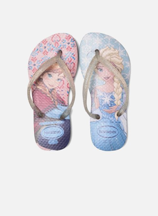 Tongs Havaianas Kids Slim Frozen Rose vue 3/4