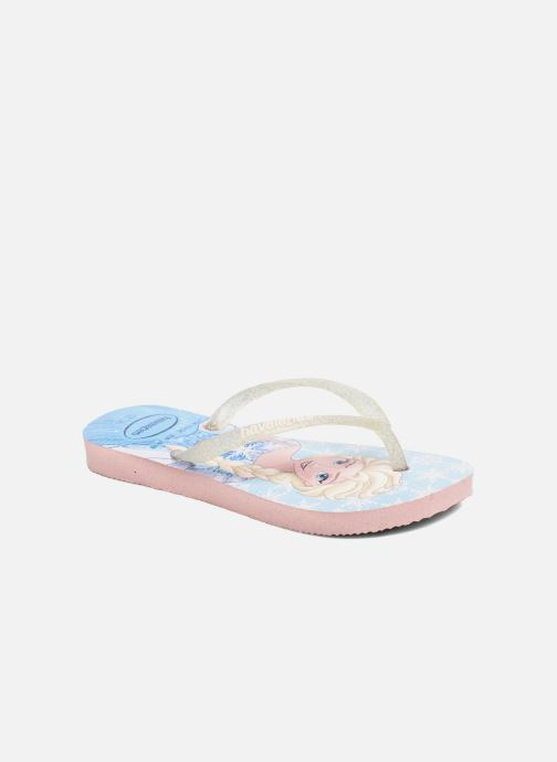 Tongs Havaianas Kids Slim Frozen Rose vue détail/paire