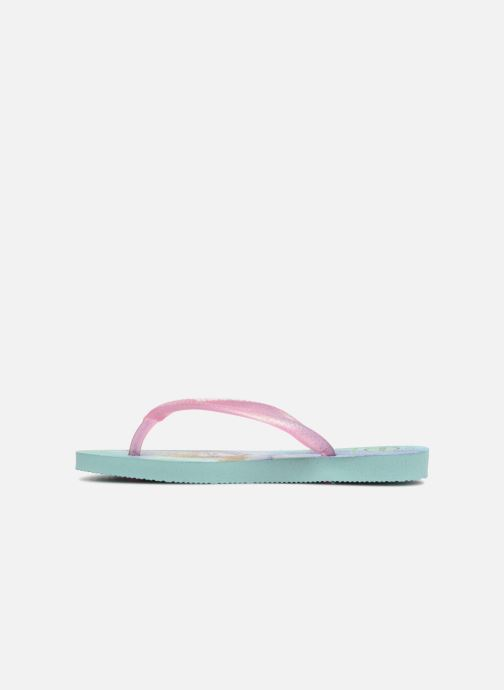 Tongs Havaianas Kids Slim Frozen Vert vue face