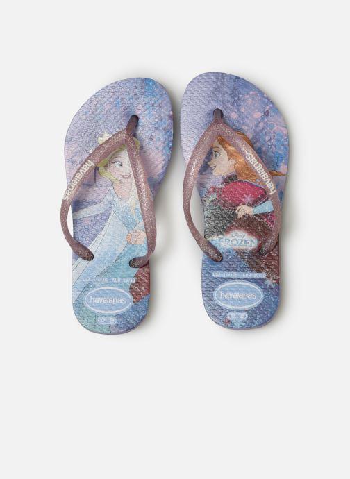 Tongs Havaianas Kids Slim Frozen Violet vue portées chaussures