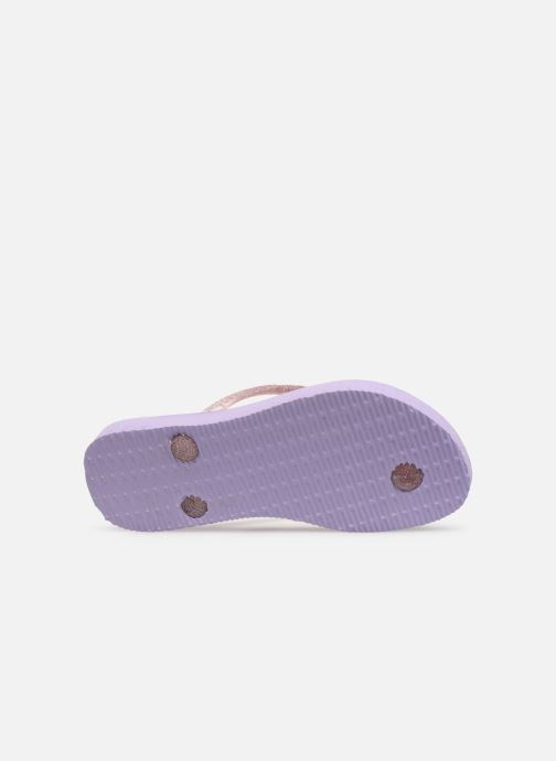 Tongs Havaianas Kids Slim Frozen Violet vue haut