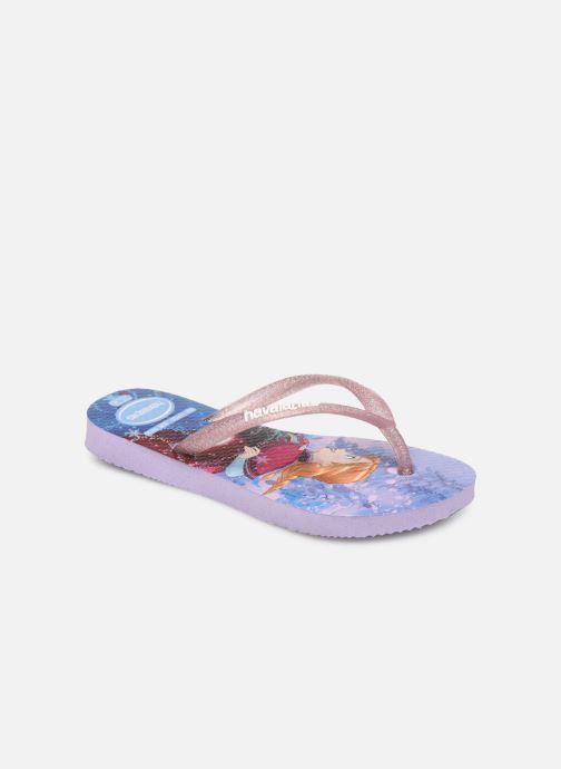 Tongs Havaianas Kids Slim Frozen Violet vue détail/paire
