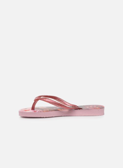 Chanclas Havaianas Kids Slim Frozen Rosa vista de frente