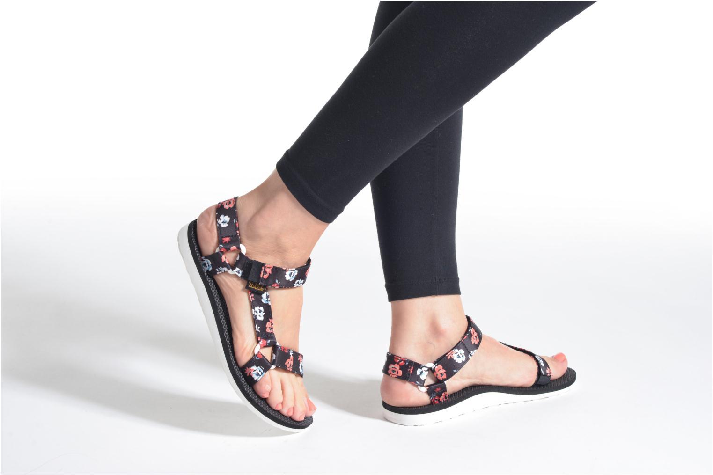 Sandales et nu-pieds Teva Original Universal Floral Noir vue bas / vue portée sac