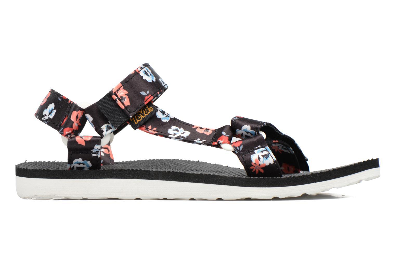 Sandales et nu-pieds Teva Original Universal Floral Noir vue derrière