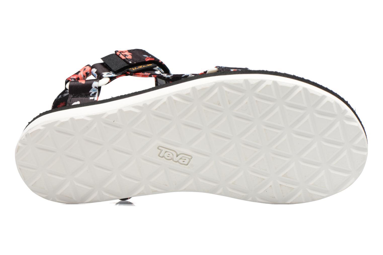 Sandales et nu-pieds Teva Original Universal Floral Noir vue haut