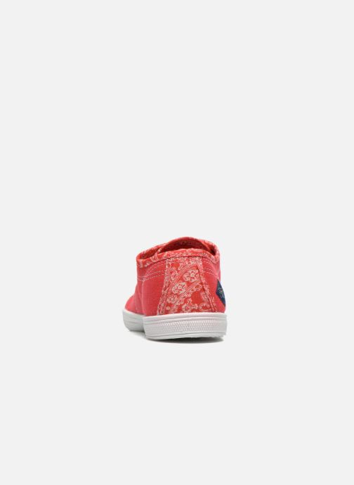Trainers Le temps des cerises Lc Basic 02 Red view from the right