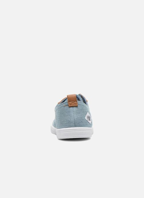 Trainers Le temps des cerises Lc Basic 02 Blue view from the right