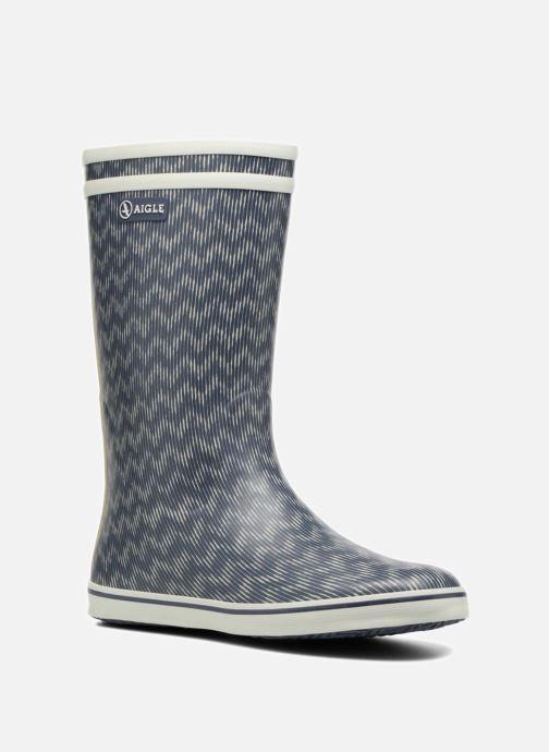 Ankelstøvler Aigle Malouine Print Blå detaljeret billede af skoene