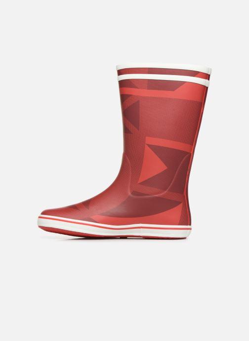 Bottines et boots Aigle Malouine Print Rouge vue face