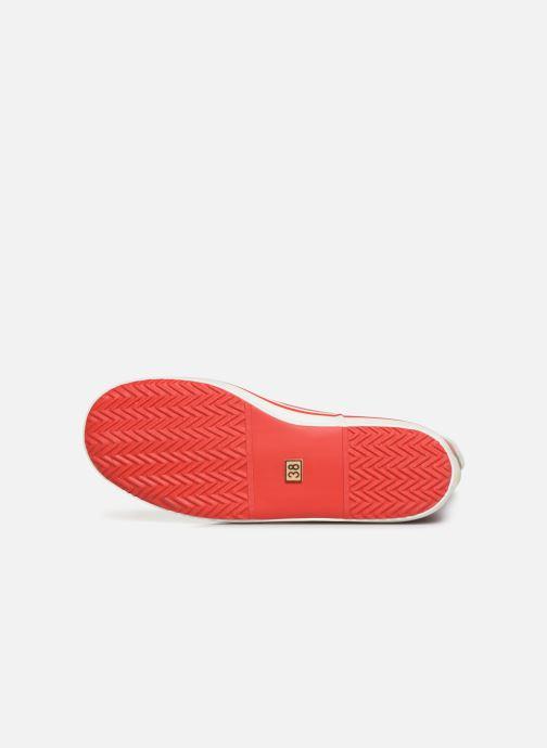 Bottines et boots Aigle Malouine Print Rouge vue haut