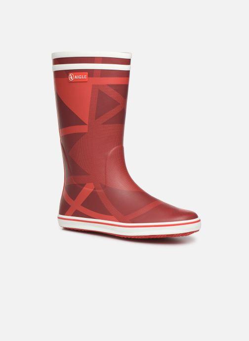 Bottines et boots Aigle Malouine Print Rouge vue détail/paire