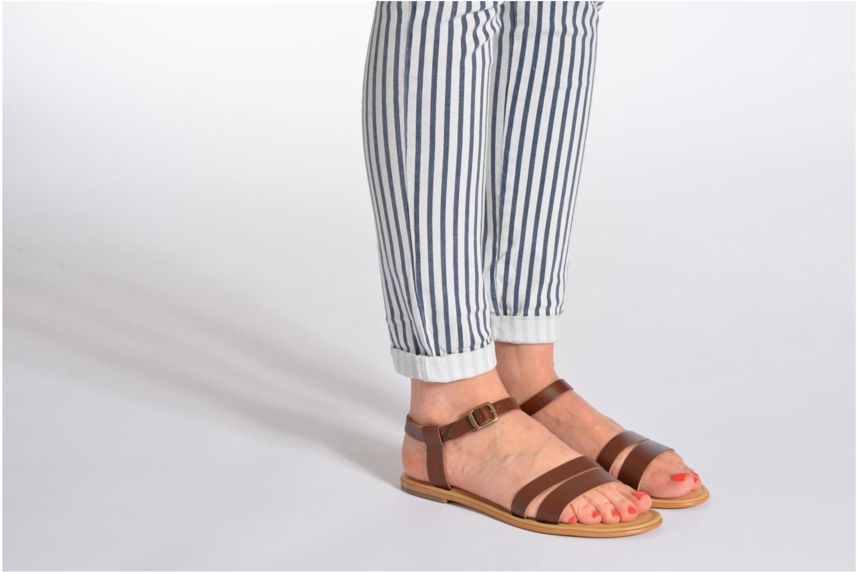 Sandales et nu-pieds Aigle Cambia Marron vue bas / vue portée sac