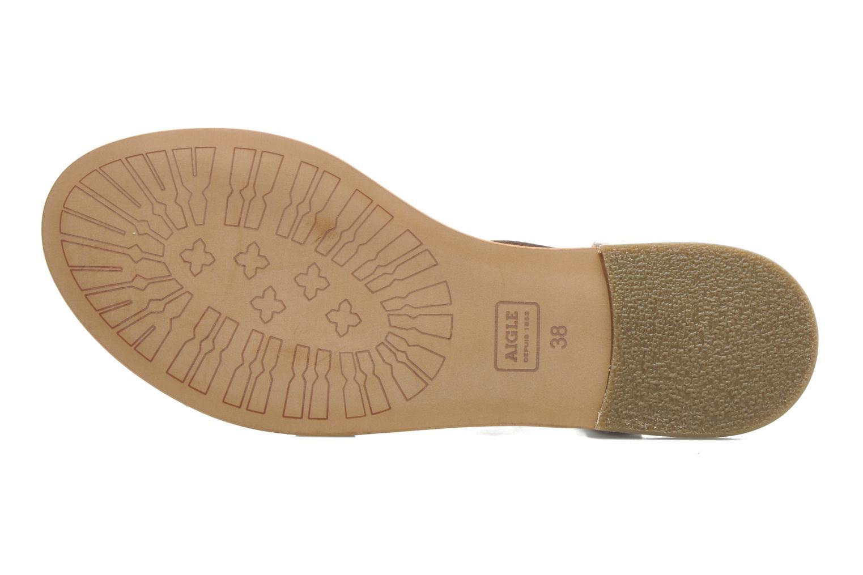 Sandales et nu-pieds Aigle Cambia Marron vue haut