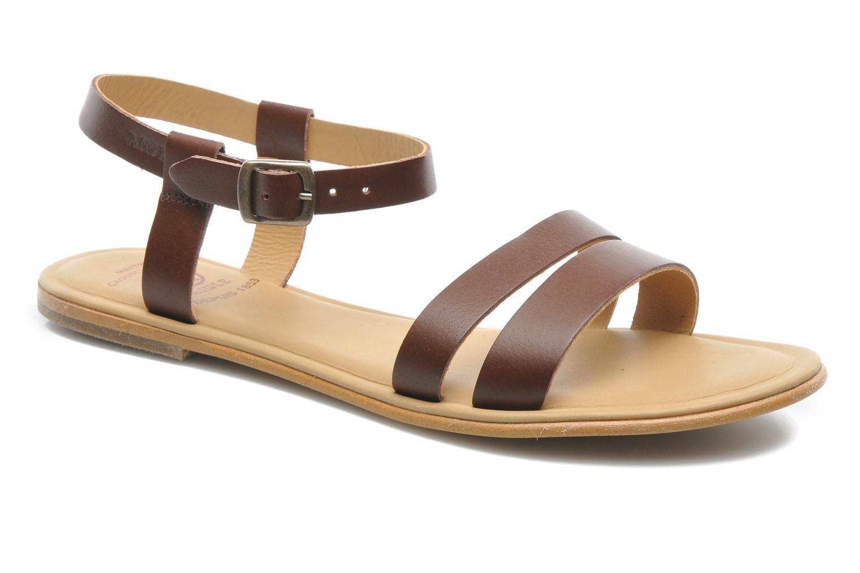 Sandales et nu-pieds Aigle Cambia Marron vue détail/paire