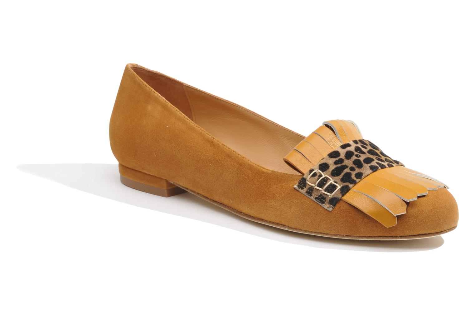 Ballet pumps Made by SARENZA Cape Town #2 Brown view from the right