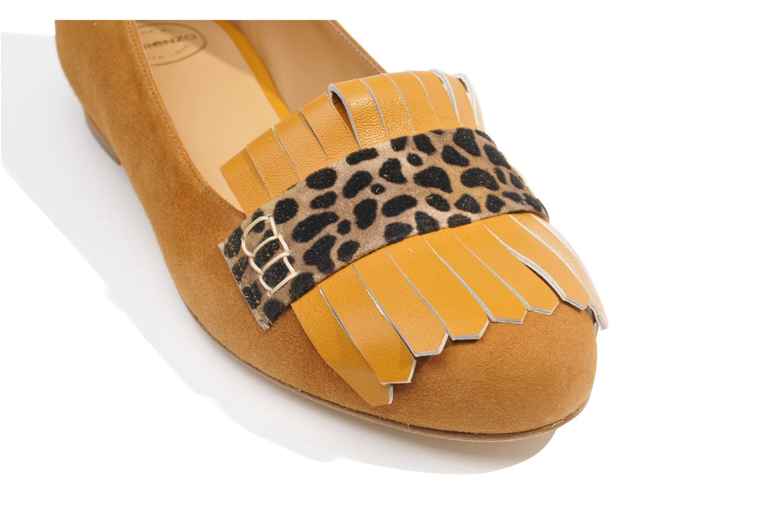 Ballet pumps Made by SARENZA Cape Town #2 Brown view from above