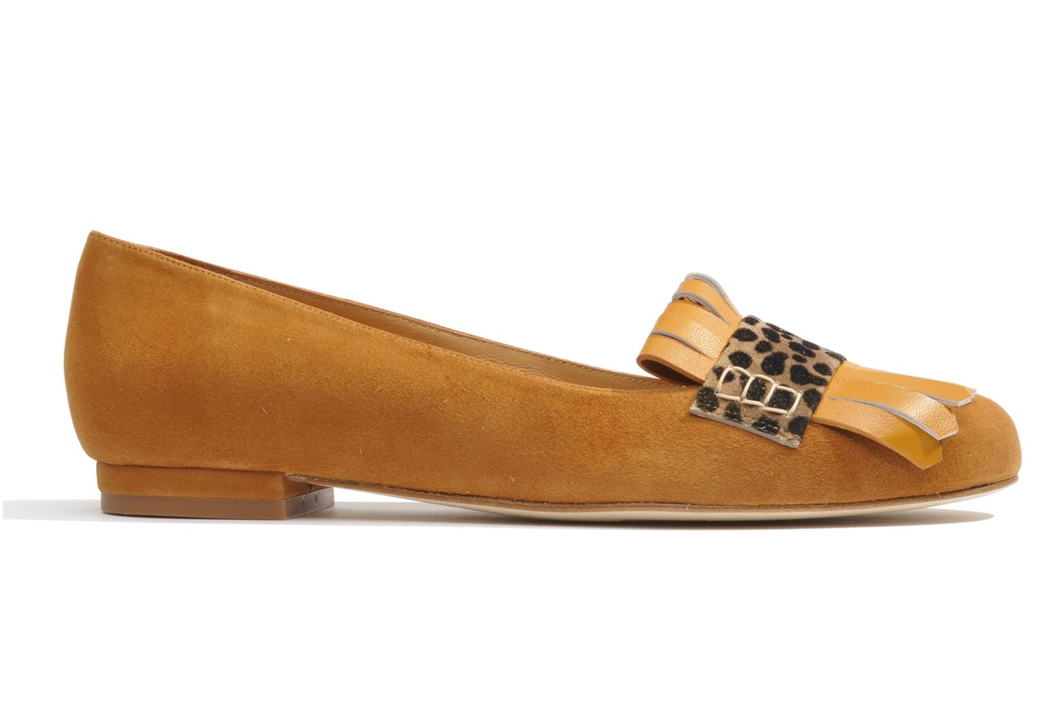 Ballet pumps Made by SARENZA Cape Town #2 Brown detailed view/ Pair view