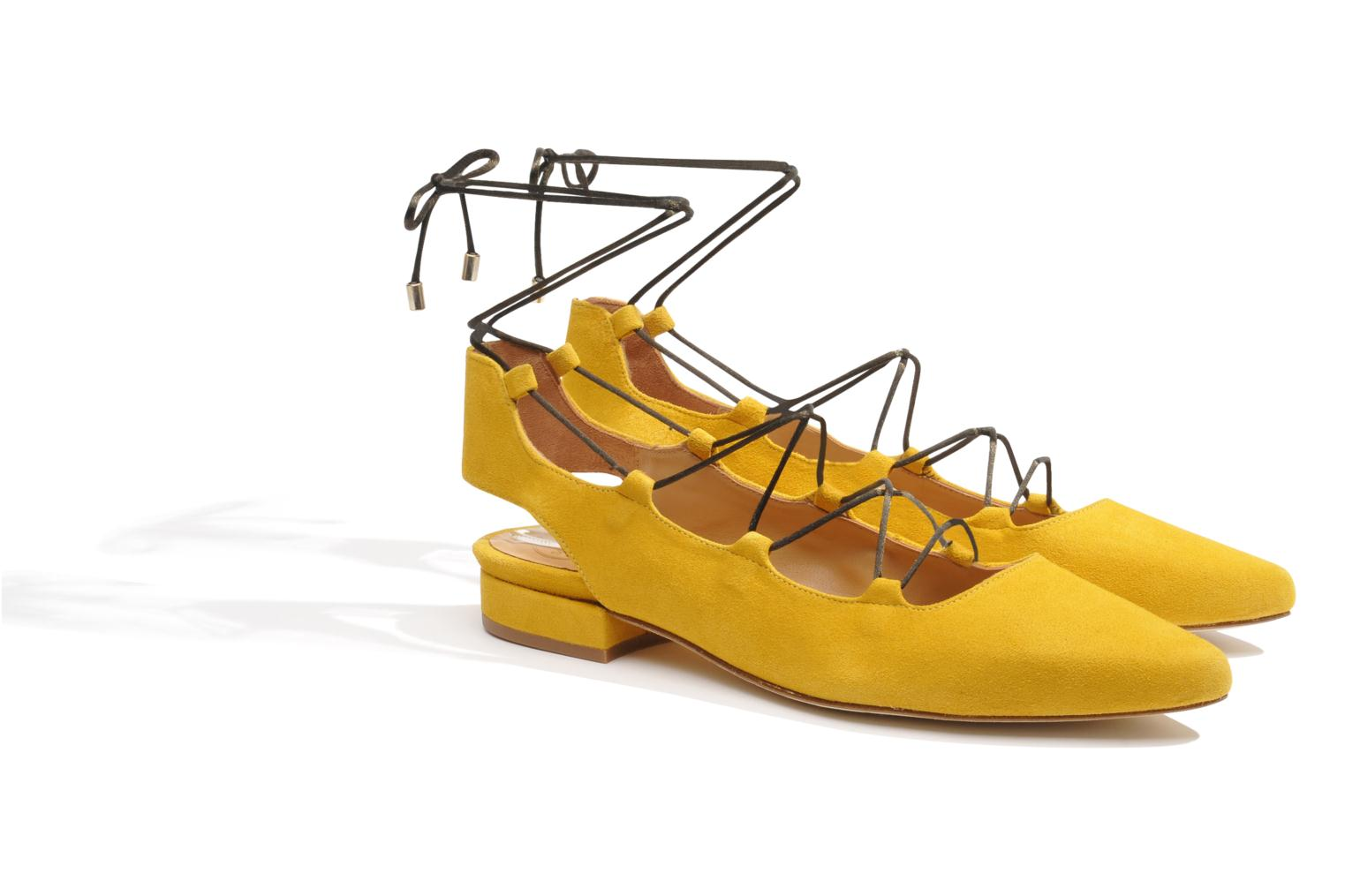 Ballet pumps Made by SARENZA Seven Tease #3 Yellow back view