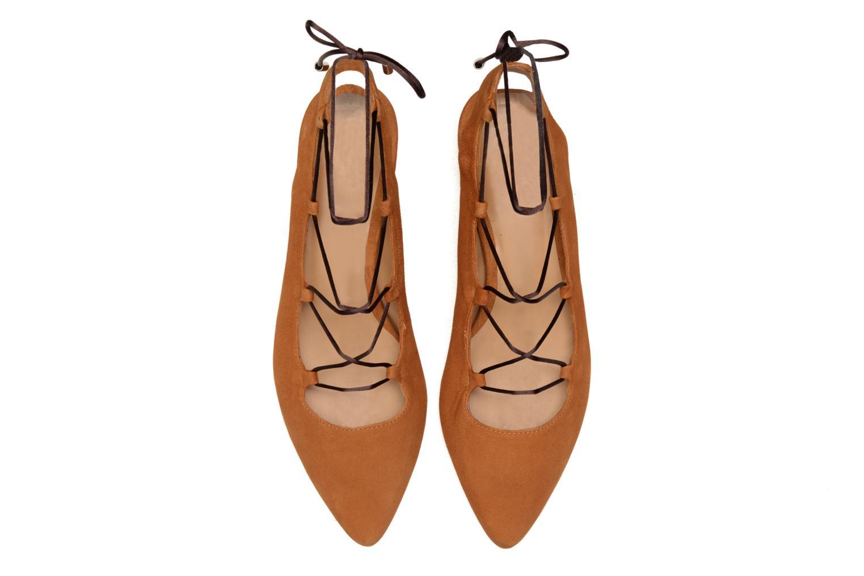 Ballet pumps Made by SARENZA Seven Tease #3 Brown model view