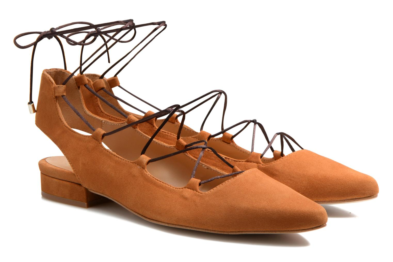Ballet pumps Made by SARENZA Seven Tease #3 Brown back view