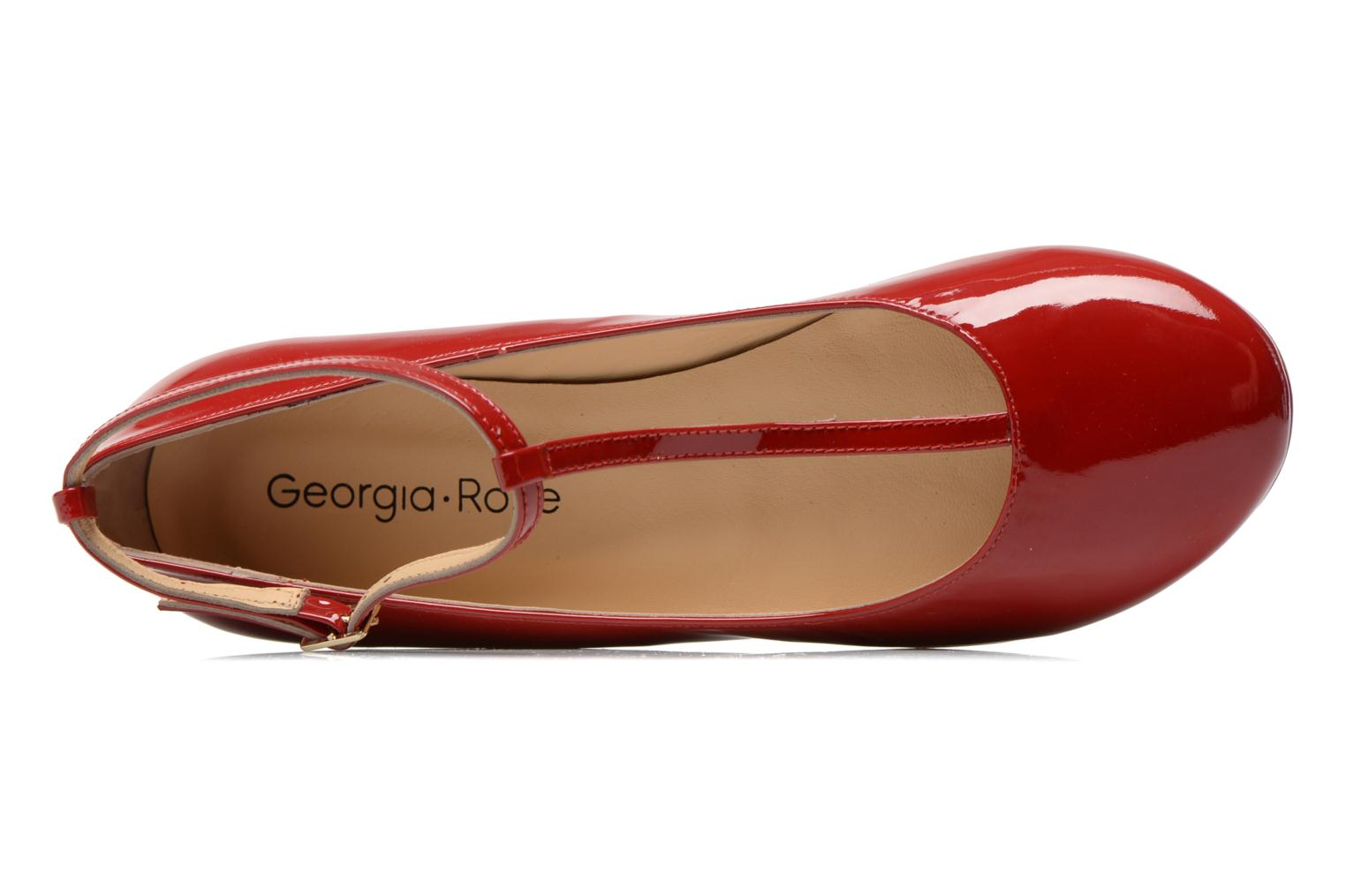Ballet pumps Georgia Rose Lamirna Red view from the left