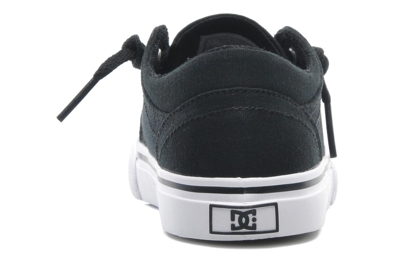 Baskets DC Shoes TRASE TX Toddler Noir vue droite