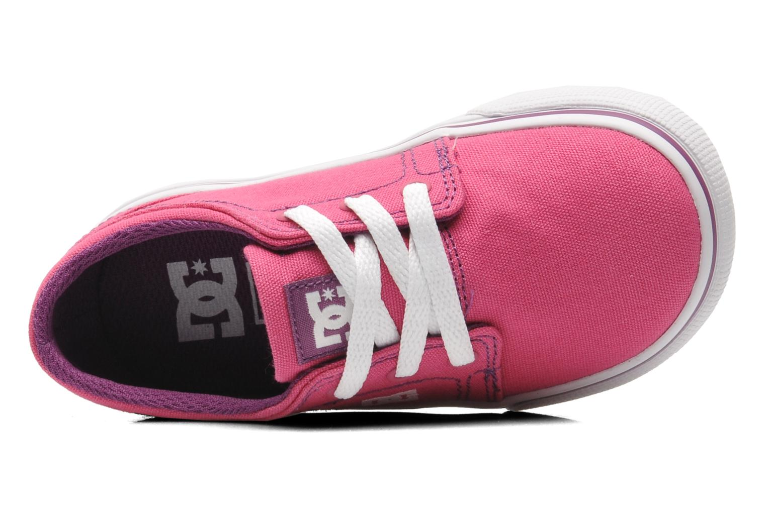Baskets DC Shoes TRASE TX Toddler Rose vue gauche