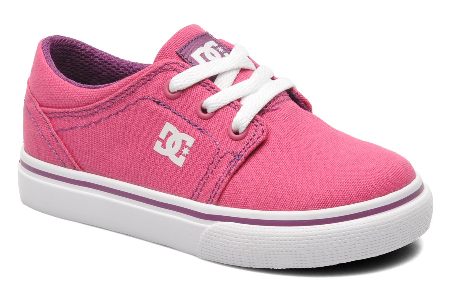 Baskets DC Shoes TRASE TX Toddler Rose vue détail/paire