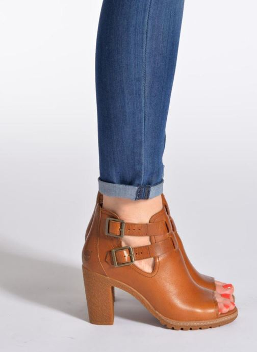 c52e4dc05b6d Ankle boots Timberland Earthkeepers Glancy Peep Toe Blue view from  underneath   model view