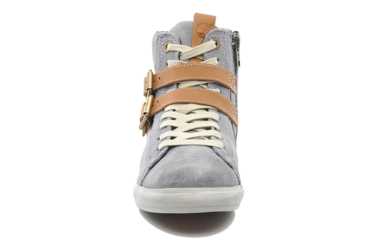 Baskets Timberland Earthkeepers Glastenbury Sneaker Hi Top Gris vue portées chaussures