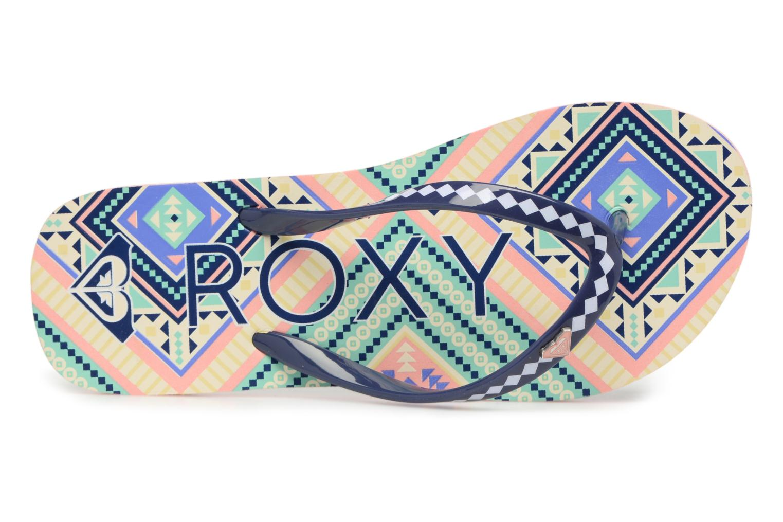 Zehensandalen Roxy Rg Pebbles V mehrfarbig ansicht von links